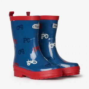 Hatley Farm Tractors Shiny Rain Boots