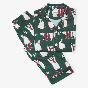 Hatley Holiday Polar Bears Button Down Pajama Set