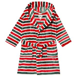 Hatley Holiday Stripe Fleece Robe