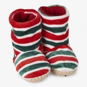 Hatley Holiday Stripe Fleece Slippers
