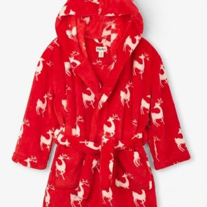 Hatley Mistletoe Deer Fleece Robe