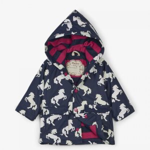 Hatley Playful Horses Colour Changing Baby Raincoat