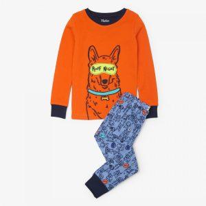 Hatley Puppy Pals Organic Cotton Applique Pajama Set