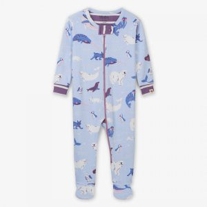 Polar Critters Organic Cotton Footed Coverall