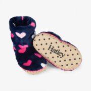 Hatley Lovely Hearts Fleece Slippers 1