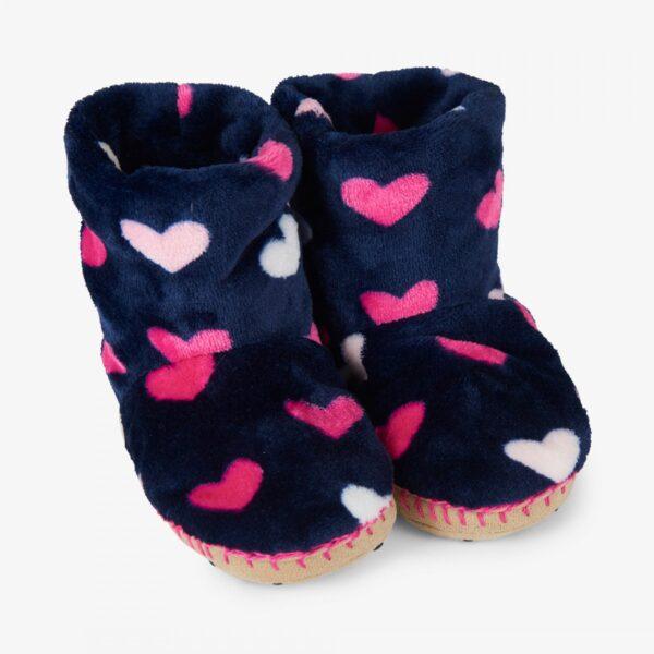 Hatley Lovely Hearts Fleece Slippers