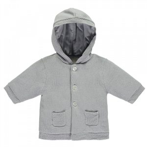 Emile et Rose Lee Grey Cosy Baby Boy Knit Jacket